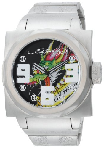 Ed Hardy Men's BA-DR Baragon Dragon Stainless Steel 316L Watch