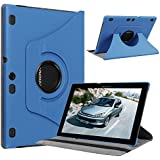 Lenovo Tab 2 A10-70 Case, Pasonomi® 360 Degree Rotating Magnetic Smart PU Leather Stand Cover Case With Smart Cover Auto Wake / Sleep Feature for Lenovo Tab 2 A10-70 10.1 Inch Android Tablet (360 Rotating Series Blue)