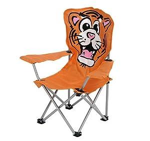 kinder klappstuhl campingstuhl tiger motiv orange garten. Black Bedroom Furniture Sets. Home Design Ideas