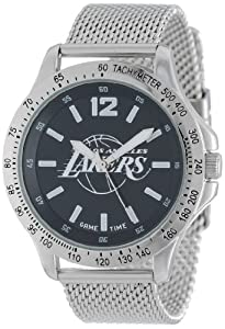 Game Time Mens NBA-CAG-LAL Cage NBA Series Los Angeles Lakers 3-Hand Analog Watch by Game Time