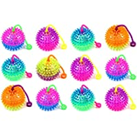 Wish You Have A Nice Day 6pcs Colors Elastic Light-up Spike Ball With LED Flash Light Up For Fun Games
