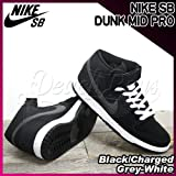 NIKE SB DUNK MID PRO Black/Charged Grey-White(314383-017) Black/ChargedGrey-White,28.5cm(US10h)