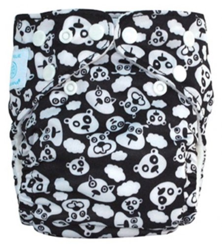 Charlie Banana Diaper One Size Belly Wrap Diaper In Blackbeary 2 Inserts front-868034