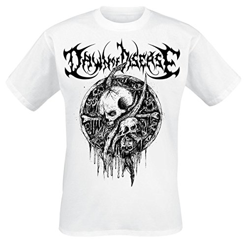 Dawn Of Disease Skulls T-Shirt bianco S