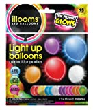 illooms LED Light up Balloons 15 Mixed color Party Pack