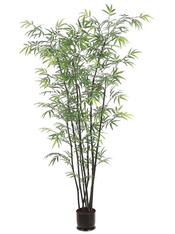 Pack of 2 Potted Artificial Dancing Black Bamboo Trees 5'