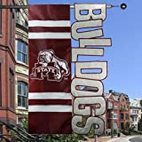 "NCAA Mississippi State Bulldogs 28"" x 44"" Maroon-White Cut-Out Applique Banner Flag"