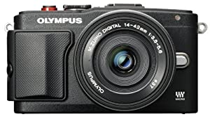Olympus E-PL6 Interchangeable Lens Camera (Pancake Lens)- Black