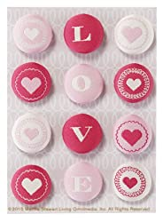 Martha Stewart Crafts Fabric Brads, Heart And Love