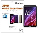 JOTO - ASUS MeMO Pad 8 (ME181C) Tablet Screen Protector Film Guard Anti Glare, Anti Fingerprint (Matte Finish), exclusive for ASUS ME181C 2014 released, with Lifetime Replacement Warranty (3 Pack)