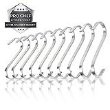 S-Hooks for Hanging Ceiling Pot Rack Kitchen Rail Utensils Organizer Stainless Steel Flat 10 pk Set thumbnail