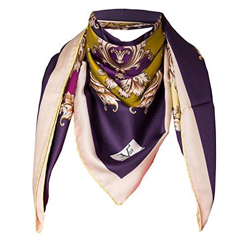 VERSACE 19.69 Abbigliamento Sportivo SRL - Sciarpa V1969 Bordeaux Oro