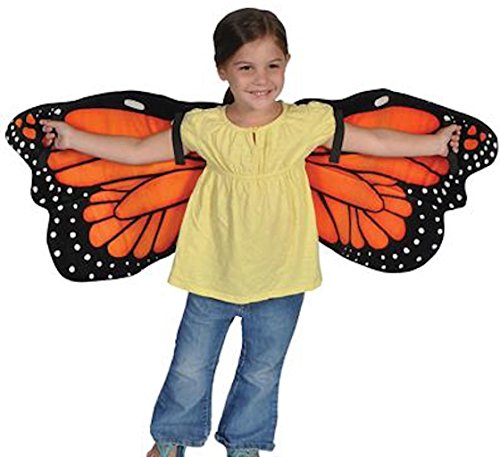[Butterfly Wings Costume Monarch Plush Dress Up Halloween] (Orange Adult Butterfly Costumes)