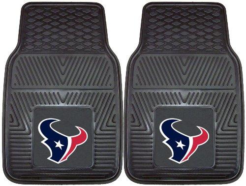 NFL Houston Texans 2-Piece Heavy Duty Vinyl Floor Car Mat Set with Logo