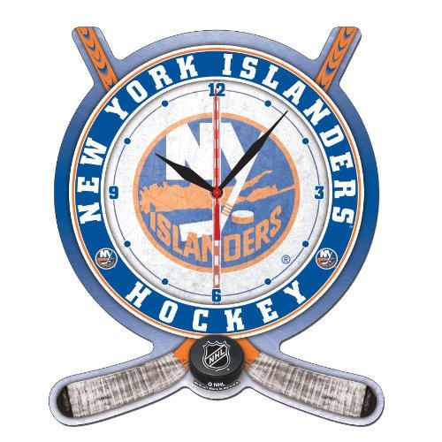 NHL New York Islanders Hockey Stick and Puck High Definition Clock