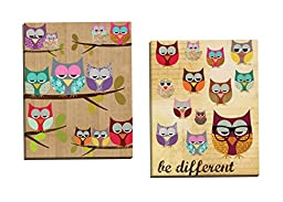 Portfolio Canvas Decor Be Different by Claudia Schoen Wall Art (Set of 2), 16 x 20\