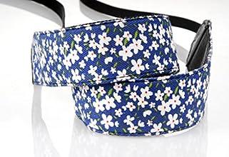 Cute Blue Flower Universal Vintage Camera Shoulder Belt Neck Strap for Ladies