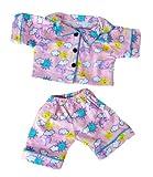 PINK SUNNY DAYS PJ'S PAJAMAS PYJAMAS TEDDY BEAR OUTFIT CLOTHES TO FIT 8