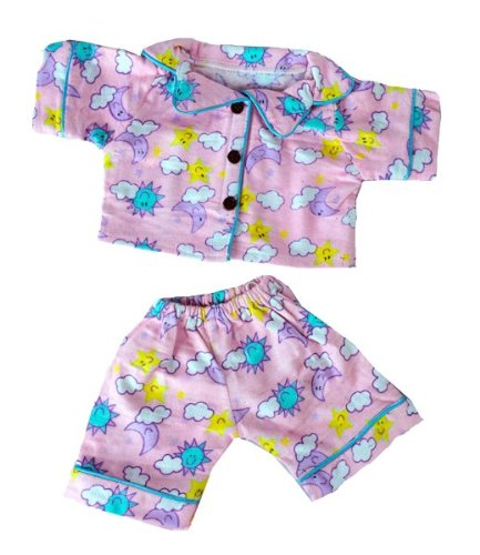 """Sunny Days"" Pink Pj's Outfit Fits Most 14"" - 18"" Build-A-Bear, Vermont Teddy Bears, And Make Your Own Stuffed Animals"