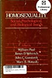 Homosexuality: Social, Psychological, and Biological Issues