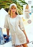 Sirdar Flirt DK Ladies Knitting Pattern 9273
