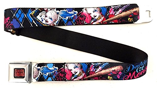 DC Comics Suicide Squad Harley Quinn Daddy's Lil Monster Seatbelt Buckle Belt (Lil Boy Belts compare prices)