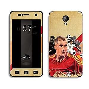Bluegape Micromax Unity 2 A106 Bastian Schweinsteiger Football Player Phone Skin Cover, Multicolor