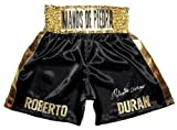 Roberto Duran Signed Black Trunks