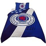 Rangers FC Stripe Crest Single Duvet Bedding Set