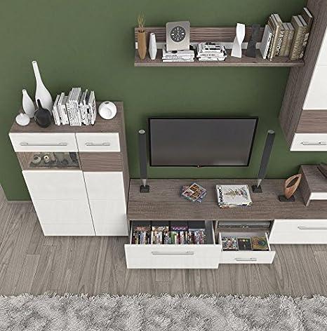 TV-Möbel TV-Schrank Farbe: Dunkelbraun 35x198x49 cm