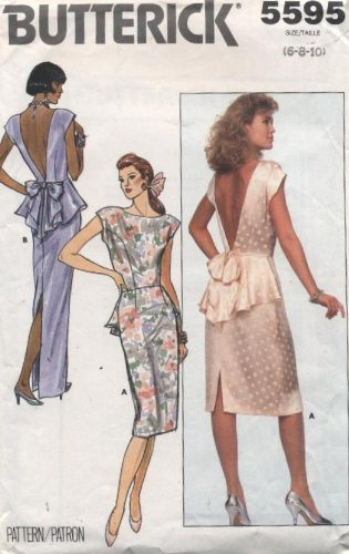 Butterick Evening Formal Dress Sewing Pattern #5595