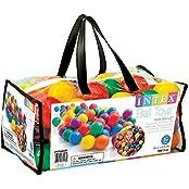 """Intex Small Fun Ballz 100 Multi Colored 2 1/2"""" Plastic Balls, For Ages 3+"""