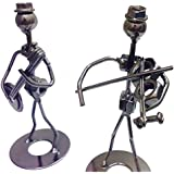 Metal Art Work (set Of 2 Pcs) Elegent Statue Artifact For Home Decor And Gift By Fashion And Colours