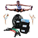 Cheer Fitness Training Combo (Cheerleading Combo) Includes Two Great Myosource Kinetic Bands Products Designed To Help Cheerleaders Improve Lower Body Strength and Improve Flexibility - Includes Kinetic Bands for Cheerleading (Cheer Bands) and a Flexibility Stunt Strap for Stretching Out and Improving Cheerleading Stunts