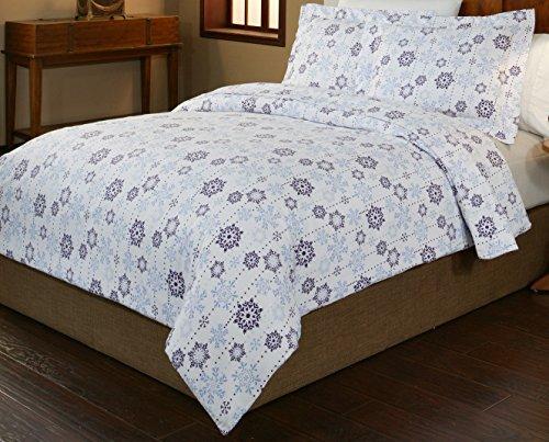 pointehaven 3 piece 200 gsm flannel duvet cover set king california king new ebay. Black Bedroom Furniture Sets. Home Design Ideas