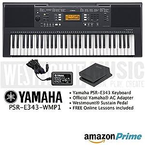Yamaha psr e343 keyboard including official adapter for Yamaha keyboard sustain pedal