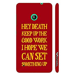 Nokia Lumia 530 Message to Death designer mobile hard shell case by Enthopia