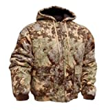 King's Camo Insulated Hooded Hunting Jacket, 10-Ounce, Cotton Duck  Desert Shadow-Medium
