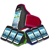 Hot Pink Sports Jogging Armband Case Cover Comfortable Holder Soft Gym Adjustable Running For NOKIA LUMIA 510 (L) Mobile Cellular Phone