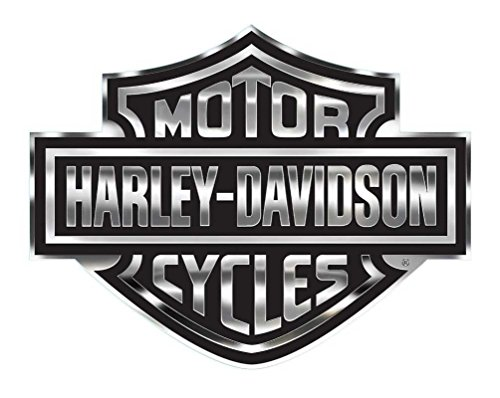 Harley-Davidson Decal, Chrome Bar & Shield Logo, X-Large 30 x 40 Inch CG4330 (Chrome Harley Decal compare prices)