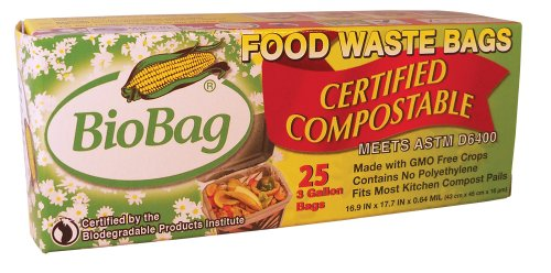 BioBag Food Waste Compostable Bags (3 Gallon),