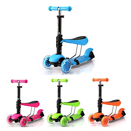 New Kids Sit Scooter 3-in-1 Kick Scooter with Removable ... Kids Sitting Scooter