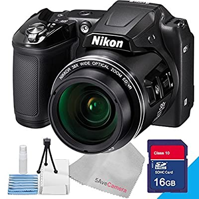 Nikon Coolpix L840 Black, 16gb Sd Class 10 High Speed Memory Card, Starter Kit - Table Top Tripod, LCD Screen Protector and Lens Cleaning Kit with 5avecamera Cleaning Cloth