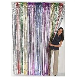Fun Express Metallic Rainbow Foil Fringe Curtains (1 Piece) (4-Pack)