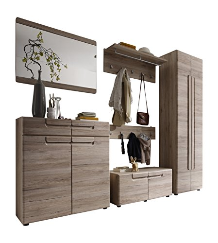preisvergleich trendteam ml92390 garderoben set garderobe 6 teilig willbilliger. Black Bedroom Furniture Sets. Home Design Ideas