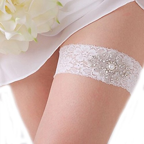 YABINA Wedding Accessories Faux Pearl Lace Garter for Bridal (A2-118)