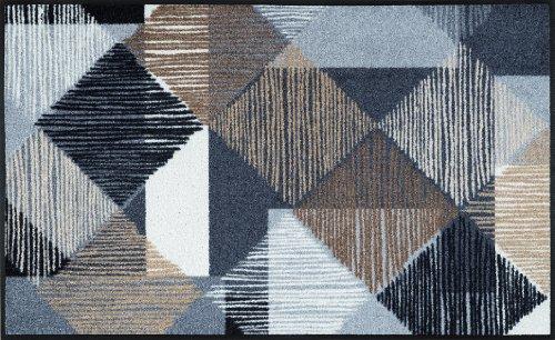 wash+dry Fußmatte Lines and Boxes 75×120 cm