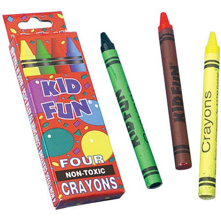 Box of 4 Crayons