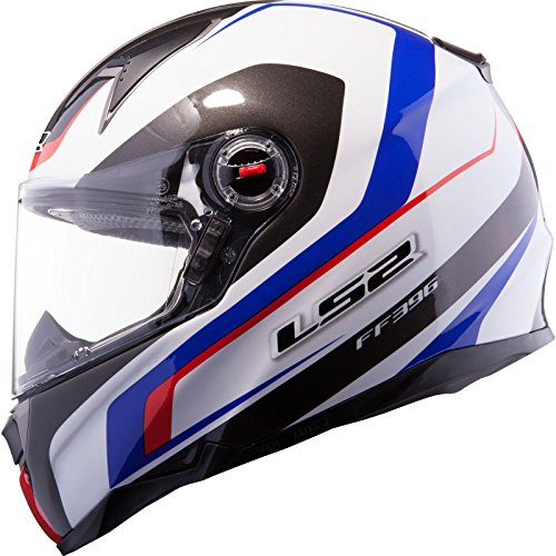LS2 FF396.52 FT2 Forza R Motorcycle Helmet XS White Blue Red