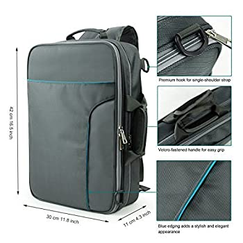 Becko 3 In 1 Padded Laptop Backpack / Single-shoulder Carrying Messenger Bag / Multi-functional Business Travel Macbook Briefcase - Fits Computer From 11 to 15 Inch (Made a Great Gift!) by Becko